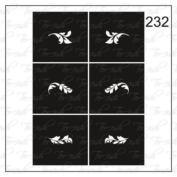 Шаблон за аерография № 232