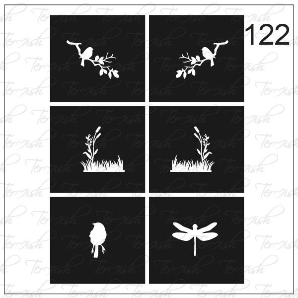 Шаблон за аерография № 122
