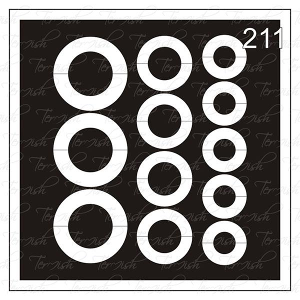 Шаблон за аерография № 211