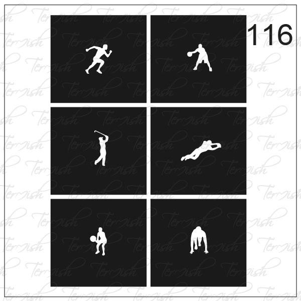 Шаблон за аерография № 116