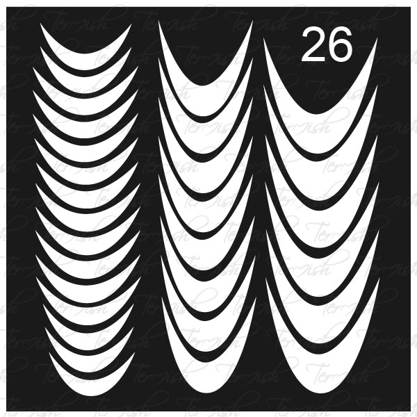 Шаблон за аерография № 26