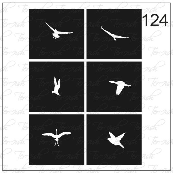 Шаблон за аерография № 124
