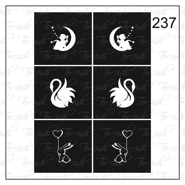 Шаблон за аерография № 237