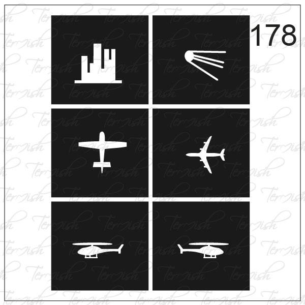 Шаблон за аерография № 178