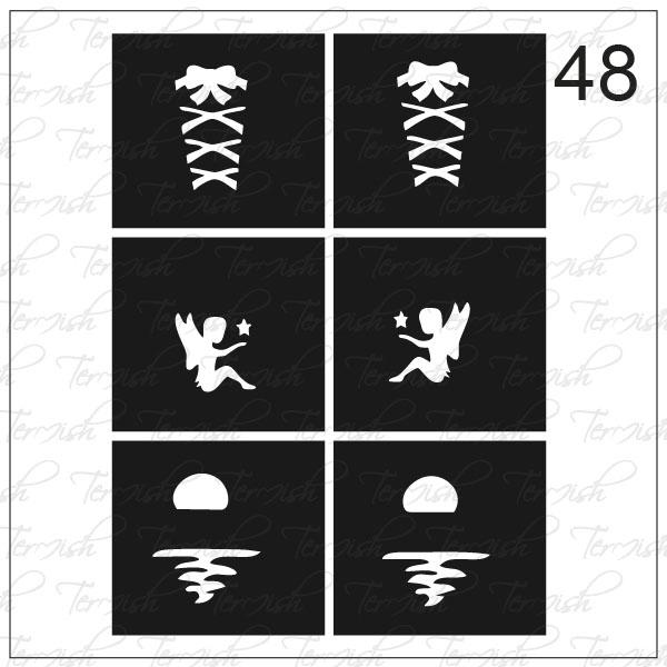 Шаблон за аерография № 48