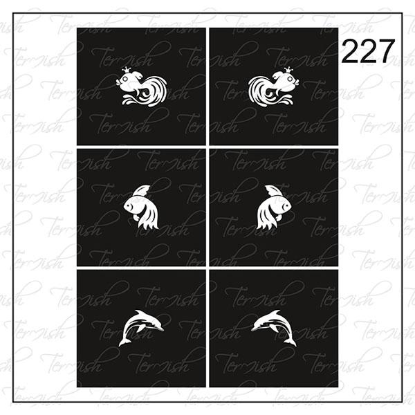 Шаблон за аерография № 227