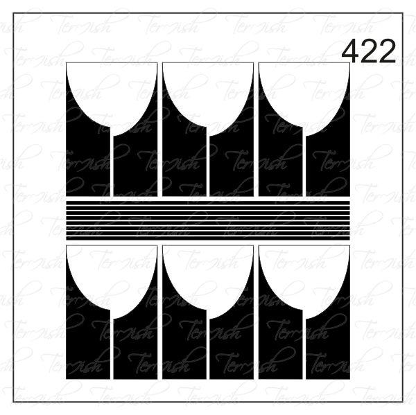 Шаблон за аерография № 422