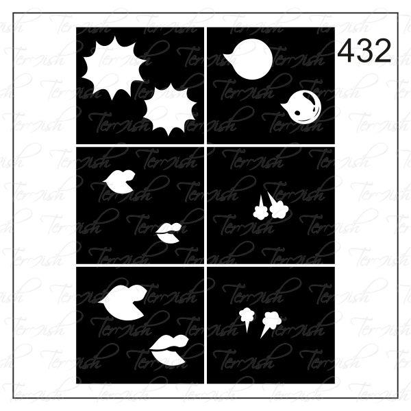 Шаблон за аерография № 432