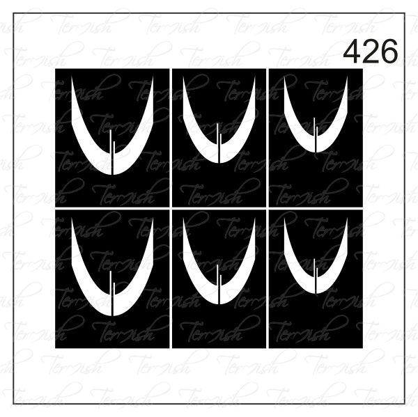 Шаблон за аерография № 426